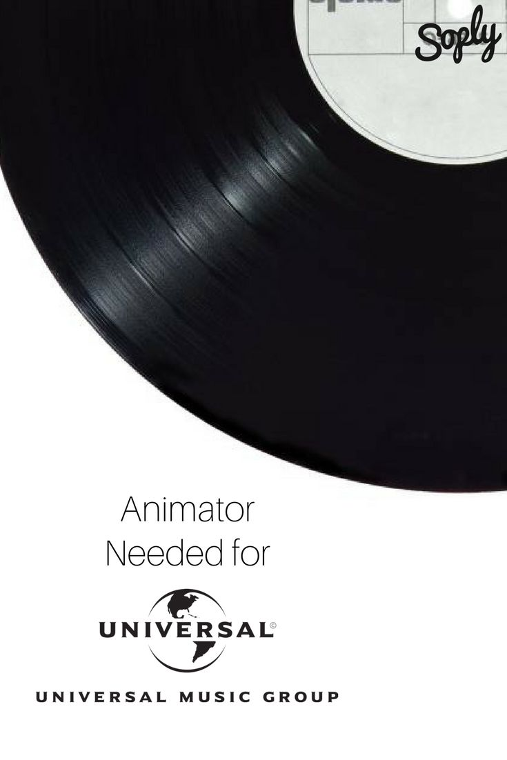 #Music video #animator needed for #Universal Music Group! The animator will need to also assist in #concept development. See the #animation job and apply by clicking the pin!