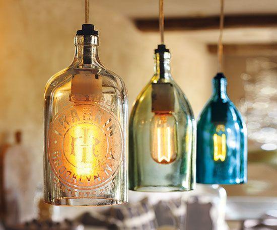 Vintage Seltzer Bottle Pendant Lights