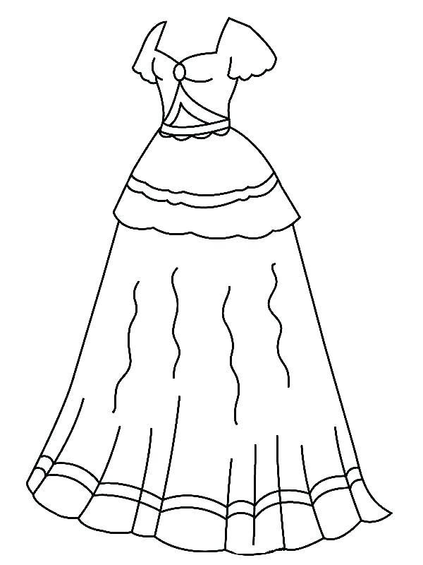 classic barbie dresses coloring pages y3018 coloring pages ...