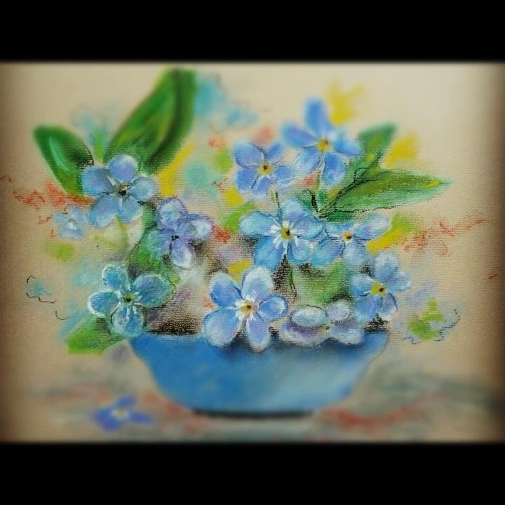 Kwiatki w błękicie