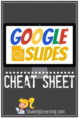 Google Slides CHEAT SHEET! (Free Download) - Shake Up Learning