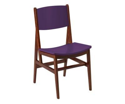 Cadeira Dumon - Cacau e Roxa