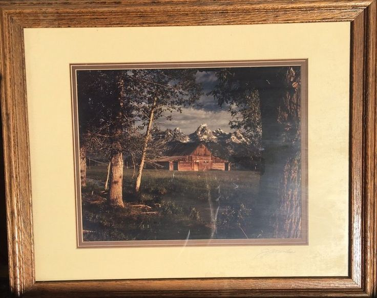 GRAND FETONS MOULTON BARN Signed Original Photograph Framed By JOHN GAVRILIS  | eBay