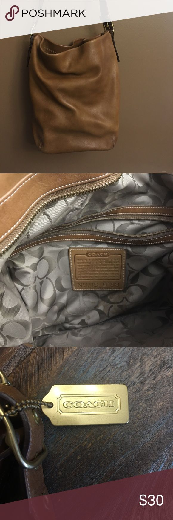 Coach Pocketbook Authentic Coach big bag.. great condition. It holds a lot. As you can see from photos it has been used but not abused & is still full of life Coach Bags Shoulder Bags