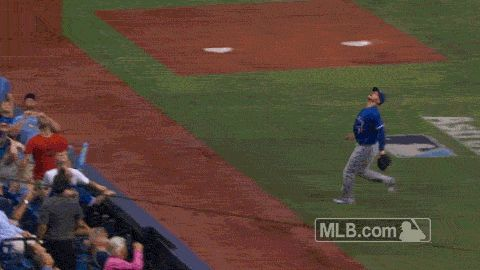 Toronto Blue Jays 3B Josh Donaldson Dives Headfirst Into Stands to Make Catch [GIF] | FatManWriting