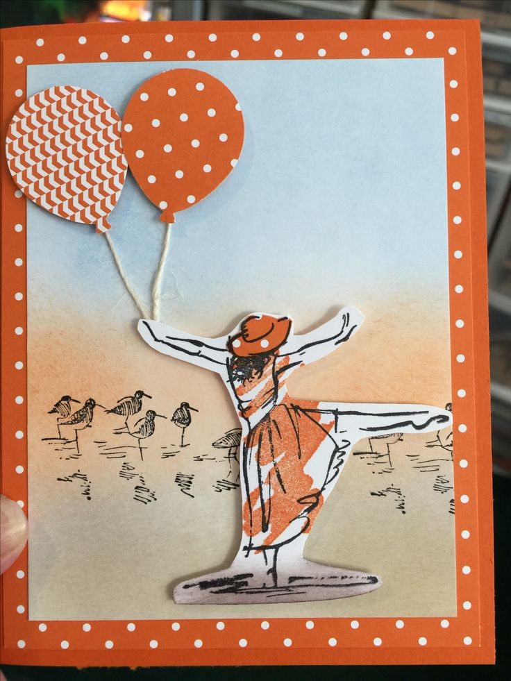 This card was made with the Beautiful You stamp set and the Balloon Celebration punch.  Love both of these sets.
