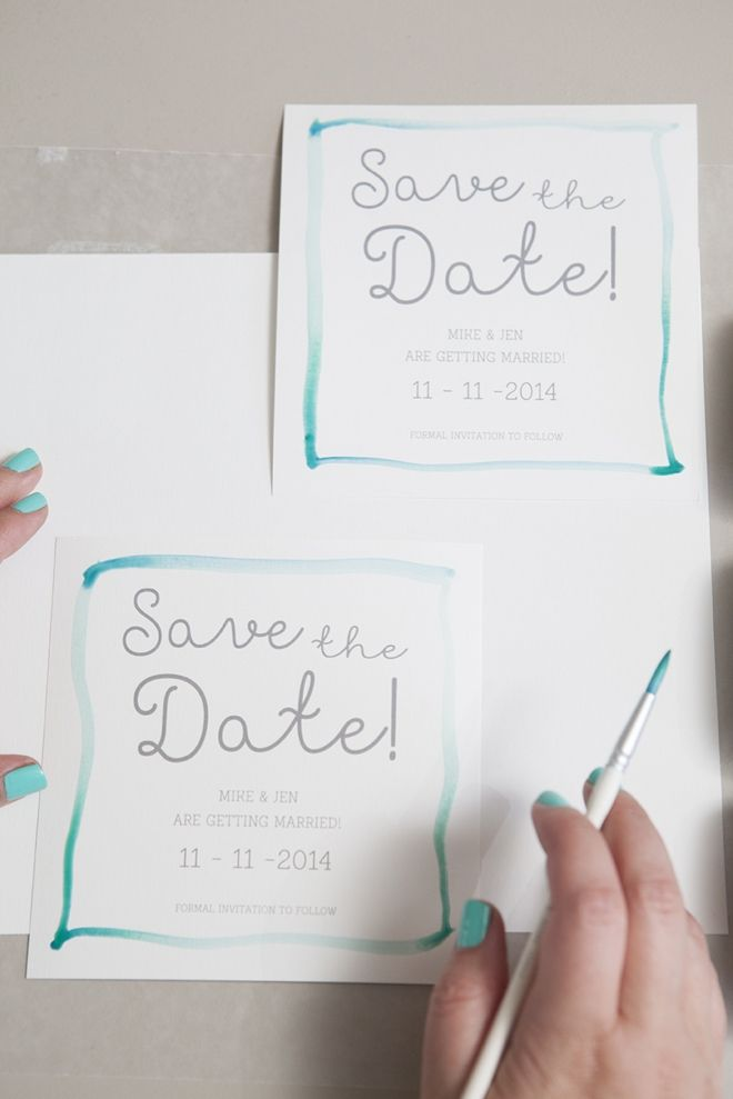 DIY Wedding // Learn how to watercolor your Save the Date invitations!