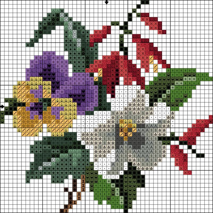 Gallery.ru / Фото #30 - Схемы вышивки крестом - pustelga