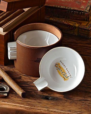 cigar ashtrays | Cigar Club Ceramic Ashtrays - Set of 4