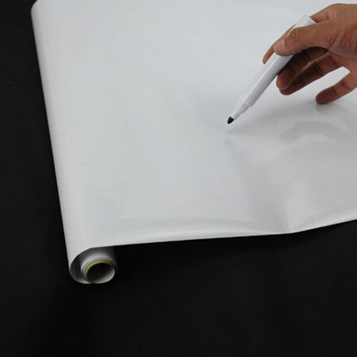 ラブリーpvc壁ピールとスティックタッチホワイトボード送料マーカーペン45センチ× 200センチ