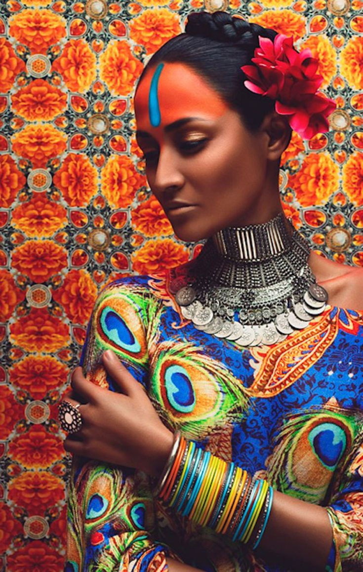 [[MORE]]Vibrant oriental bridal fashion photography by Anushka Menon