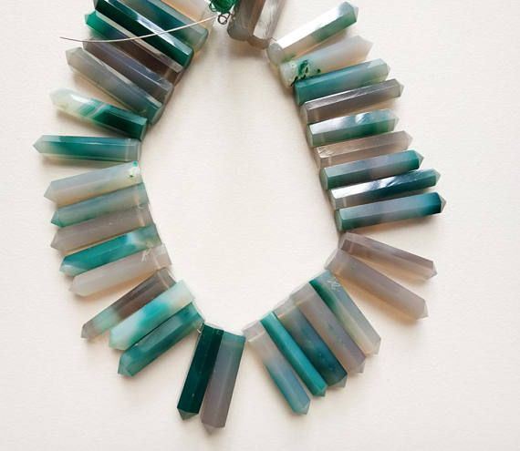4 Inch Shaded Teal Blue Aqua Blue Chalcedony Plain Sticks