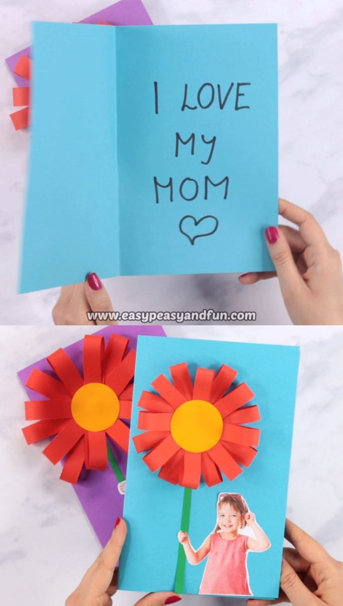 Paper Flower Mother's day Card – Easy Peasy and Fun