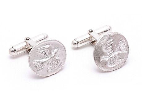 'Flying bird' cufflinks' by Vikki Kassioras  Sterling silver  Available in store and online  http://egetal.com.au/store/product/VKK610