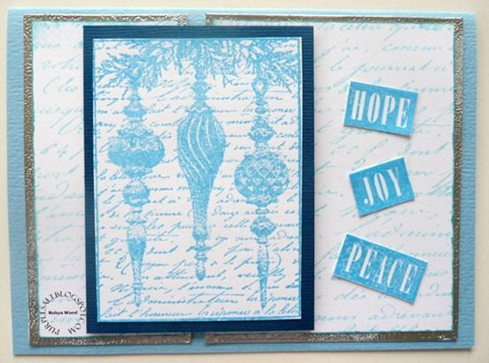 Card by Robyn Wood using Darkroom Door Noel Rubber Stamps and French Script Background Stamp.