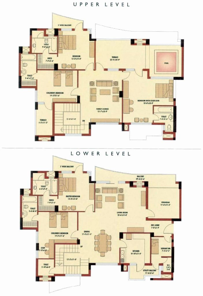 5 Bedroom Duplex House Plans Inspirational 52 Easy Floor Plan Nigeria House Designs Floor Plans Duplex House Plans House Plans Duplex House