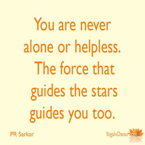 "Yoga in Davao Quote: ""You are never alone..."""