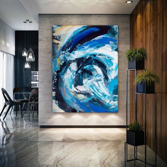 Large Modern Wall Art Paintinglarge Abstract Painting On Etsy Large Modern Wall Art Art Gallery Wall Abstract Art Painting