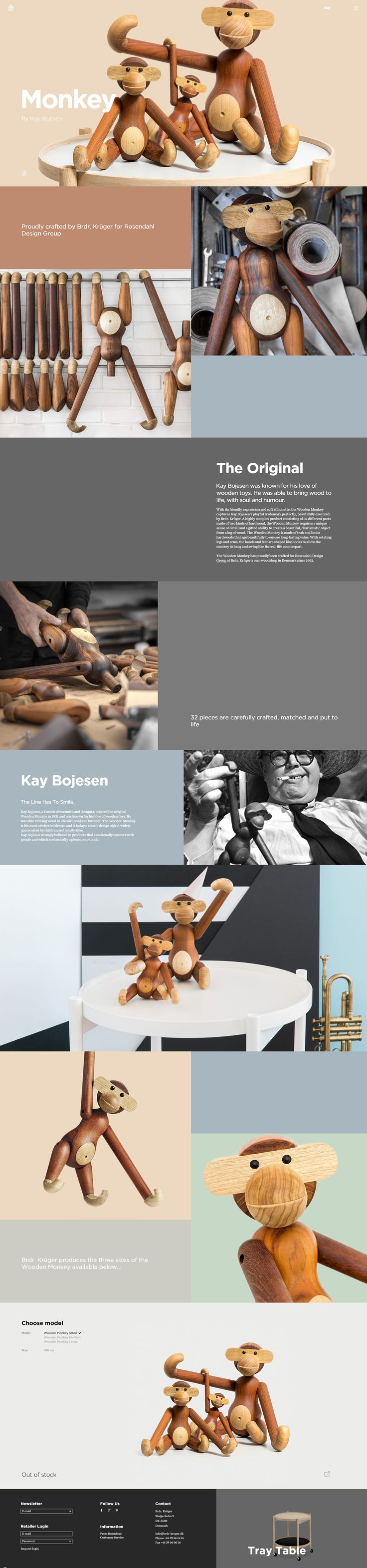 Monkey by Kay Bojesen. Perhaps that's how Lego used to started. #webdesign #design (View more at www.aldenchong.com)