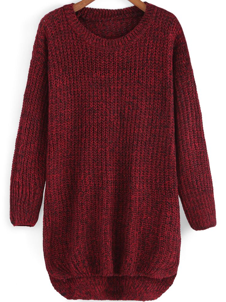No way to let me give the warm loose dip hem sweaters away! Oversized long knit sweater is best for winter .i pick a red sweater from a batch of jumper sweaters of my closet,this new year can never be cold !