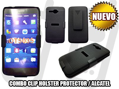 *NUEVO* - COMBO CLIP HOLSTER PROTECTOR PARA ALCATEL ONE TOUCH X'POP ONE - SOLO EN MGWIRELESS!!!  https://www.facebook.com/mgwirelesstj