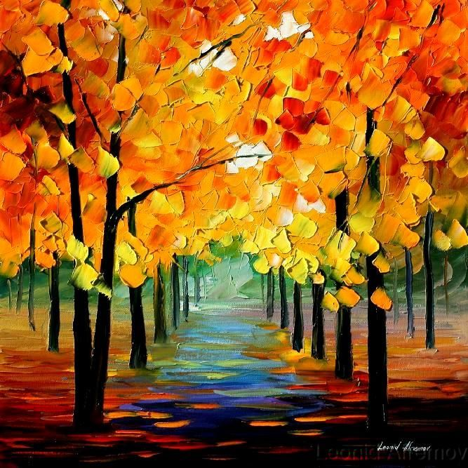 FALL BREEZE  by *Leonidafremov (Deviantart)  Traditional Art / Paintings / Landscapes & Scenery