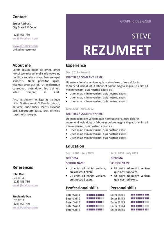 10 best Resume \/ CV for PowerPoint images on Pinterest - resume to cv
