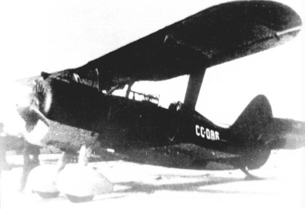 Polikarpov I-15bis Superchato de la Aviación republicana, con el código CC-086.