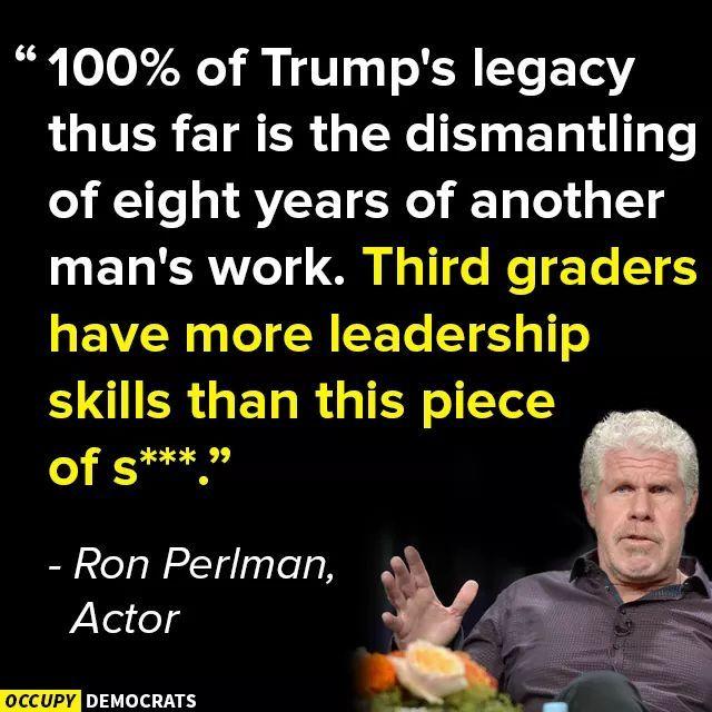 Ron Perlman on Trump