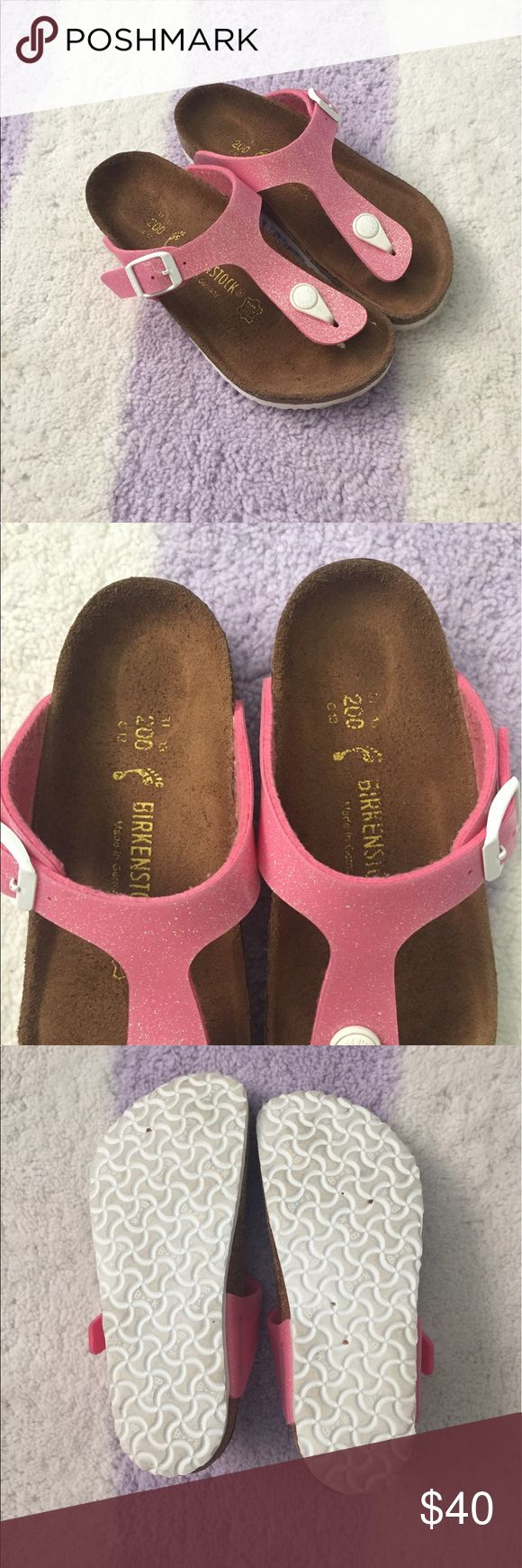 Girls Birkenstock sandals Excellent condition! Worn 1x. Pink sparkle. Size 13 Birkenstock Shoes Sandals & Flip Flops