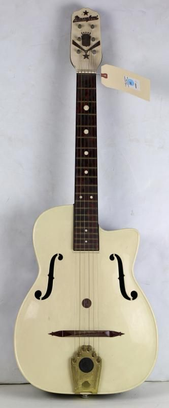 Mario Maccaferri guitar, circa 1950, for the French American Reeds Manufacturing Company of Mount Vernon, New York, 36 - Price Estimate: $500 - $700
