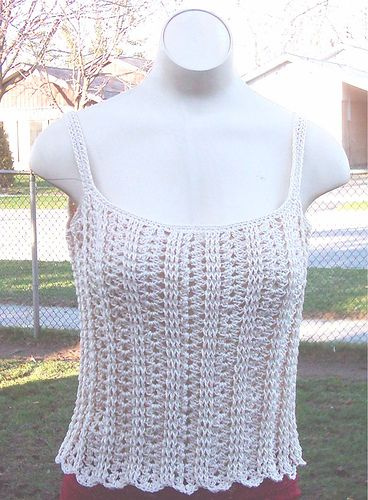 cute little cami ~ free crochet pattern