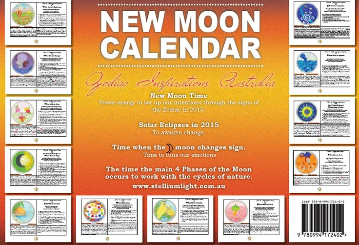 It's a must for anyone into the MOON and her trip through the year! It contains insights to make Moon Boards to achieve your goals monthly. Basic Astrology to tune in with your emotions and  the one you love. Time and date to follow the Moon's journey through the Zodiac in 2015  Go to the website to order one now! http://www.stelliumlight.com.au/promotions.html