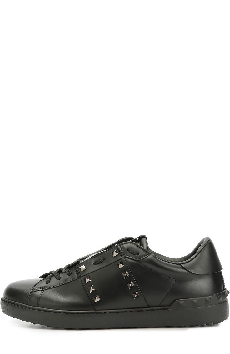 Valentino Кожаные кеды Rockstud Untitled Черный 38 450 Р.