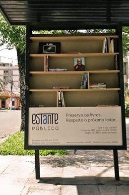 Paradas de ônibus viram bibliotecas no RS   Funarte – Portal das Artes