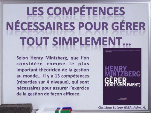 HRImag : HOTELS, RESTAURANTS et INSTITUTIONS - LES COMPÉTENCES NÉCESSAIRES POUR GÉRER TOUT SIMPLEMENT... selon le professeur Henry Mintzberg!