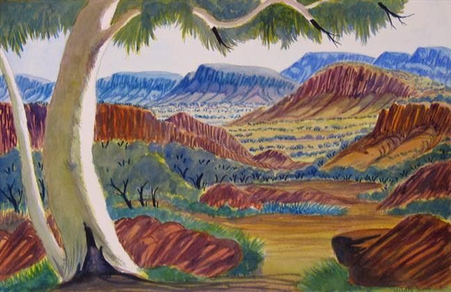 West MacDonnell Ranges by Hilary Wirri