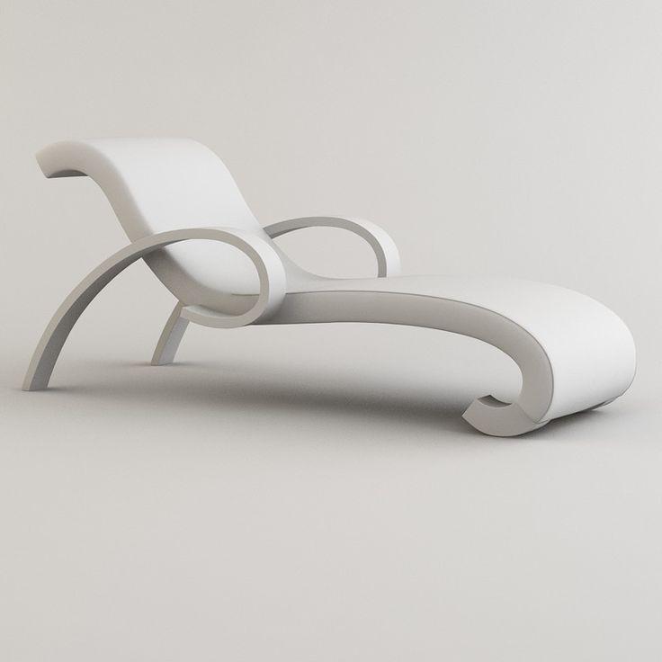 Borromini Chaise Lounge | Long Chair . Liegestuhl . Chaise Longue | Design:  Armani |