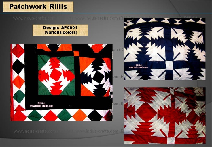 $199 - Patchwork Rilli from the collection of Indus-Crafts.com