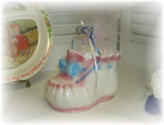 Vintage Baby Bootie Planter Gift