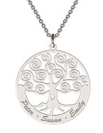 Sterling Silver Personalized Family Tree Necklace from www.charisjewelry.co.za