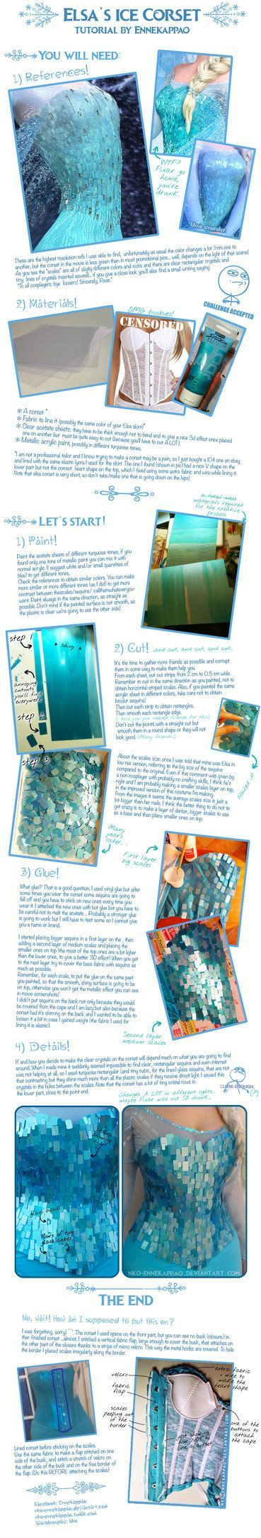 [Click DOWNLOAD FOR FULL VIEW] I made my Elsa corset in 2014 a bit after the movie came out and there were no tutorials available. After considering a lot of options I thought of this method to try...