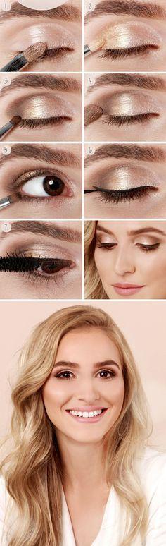 Un maquillaje de ojos marrones paso a paso de día para iluminar tu mirada