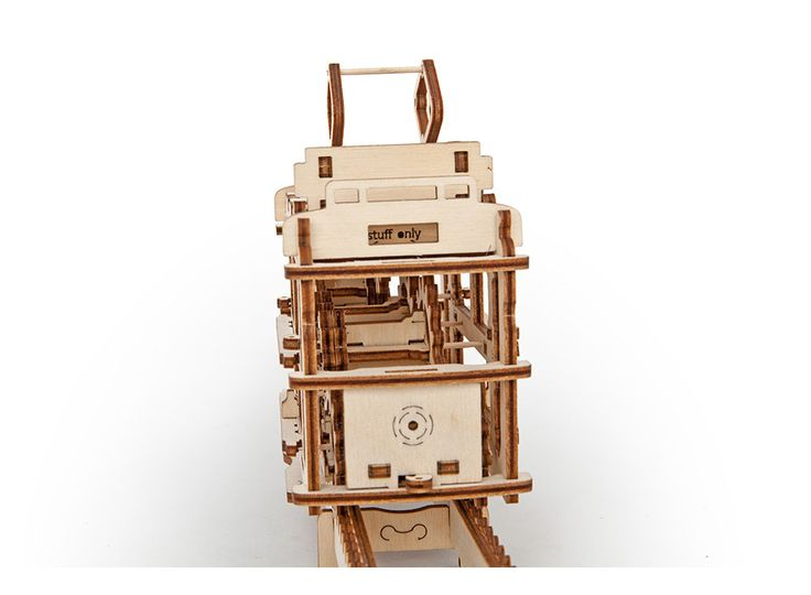 3D-пазл Ugears «Трамвай с рельсами» Конструктор, 3D-конструктор, модель