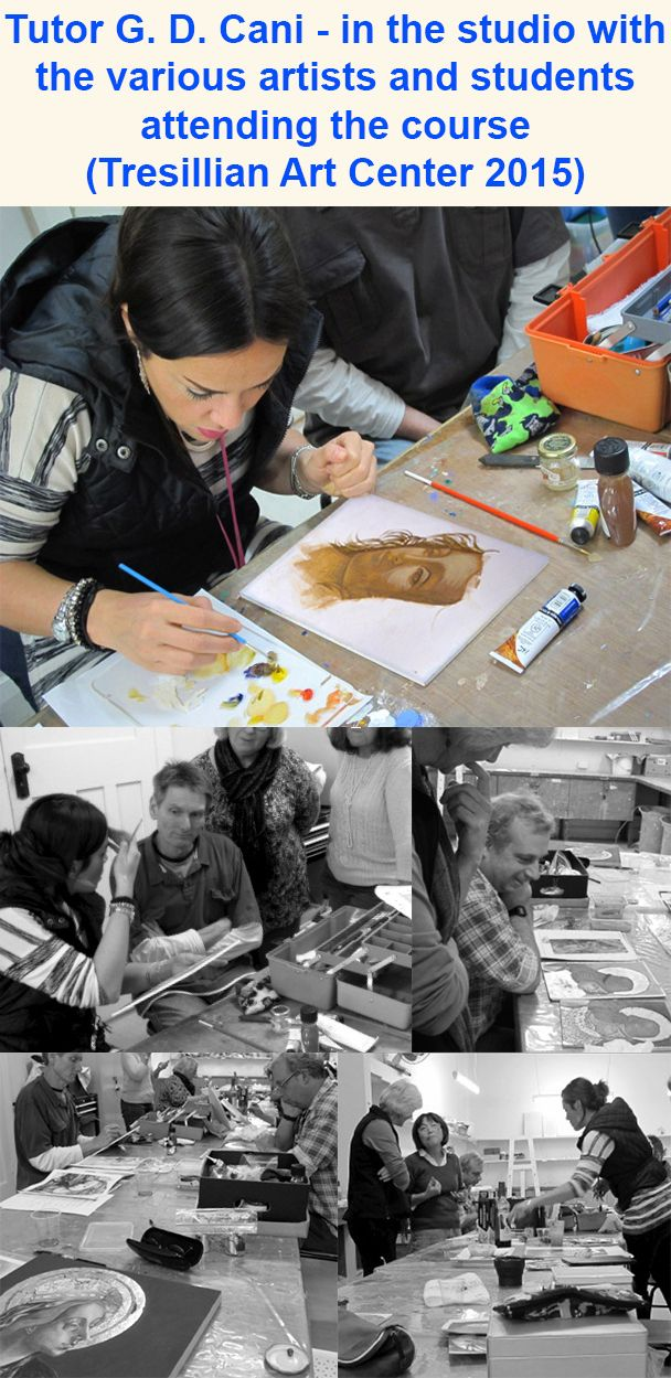 G. Dalli Cani - Tutoring adults at Tresillian Arts Centre - 2015. With the students attending the course.