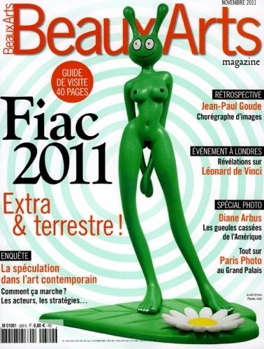 Alain Sechas - Beaux Arts Magazine cover