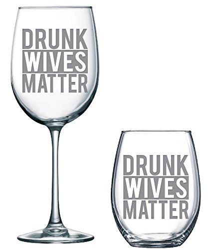 Drunk Wives, Wine glass, Humor, Classy Sassy and A Bit Smart Assy, wine glass, funny wine glass, stemless wine glass, gifts for her, gifts for mom. This funny wine glass says it all! Available in your choice of 21oz stemless or a 16oz stemmed.