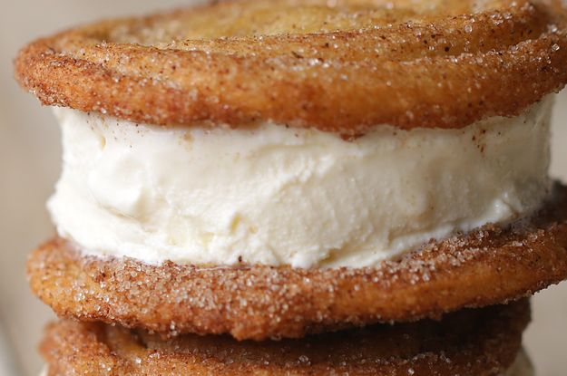These Churro Ice Cream Sandwiches Will Make Your Date Night So Much Sweeter