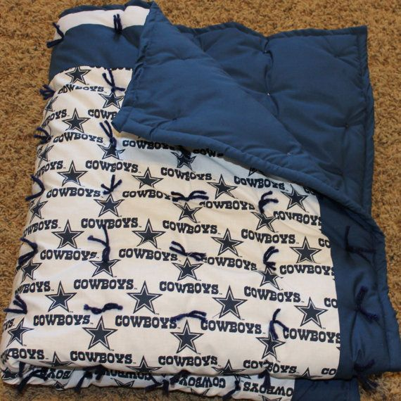 NFL Dallas Cowboys Baby Quilt Ready to by HollysHandtiedQuilts, $55.00