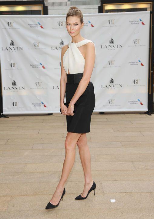 Karlie Kloss in a Lanvin dress